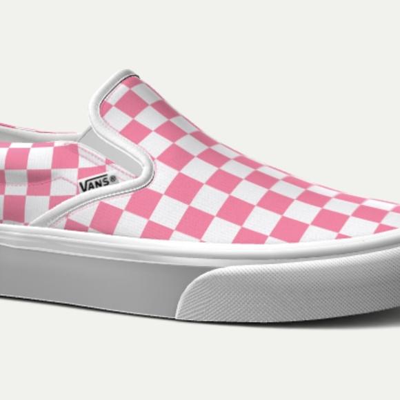 pink checkered van \u003e Clearance shop